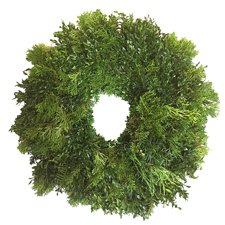 Mixed Greens Wreath, $40